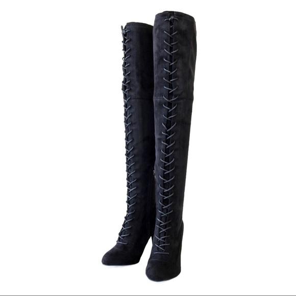 b83845ed961 Amaya-07-black over the knee boots. NWT. Wild Diva